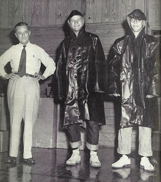 Barry Switzer in Rain Jacket