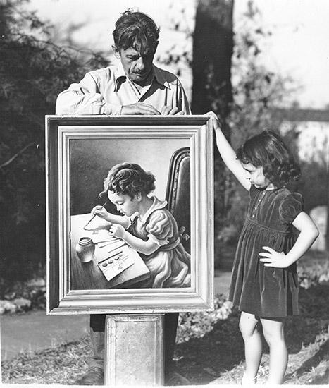 Thomas Hart Benton and Daughter