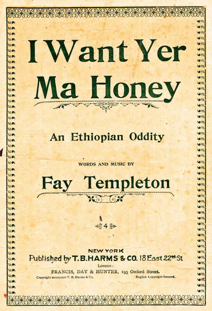 Fay Templeton Sheet Music