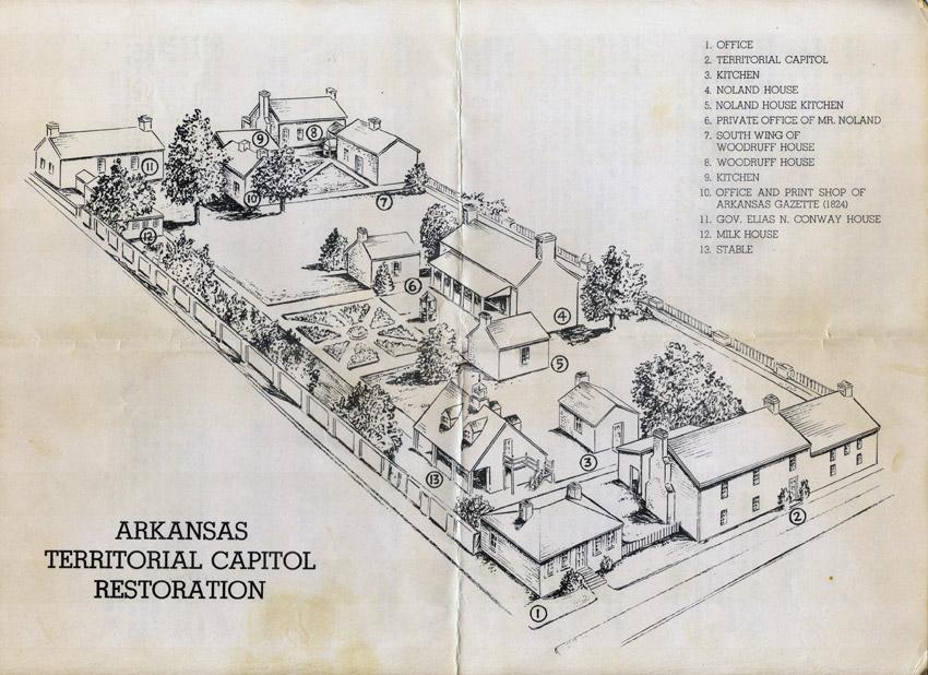 Arkansas Territorial Capitol Restoration Map