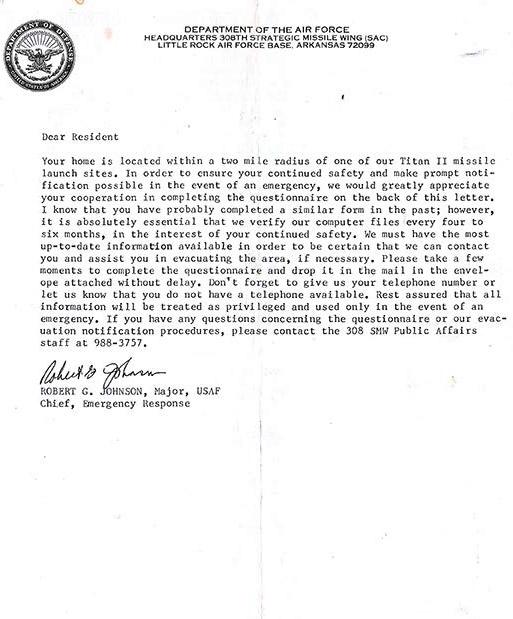 Evacuation Letter