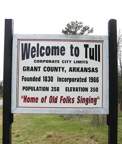 Tull Welcome Sign