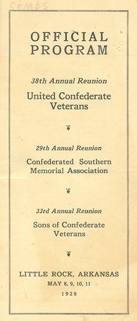 1928 UCV Reunion Program