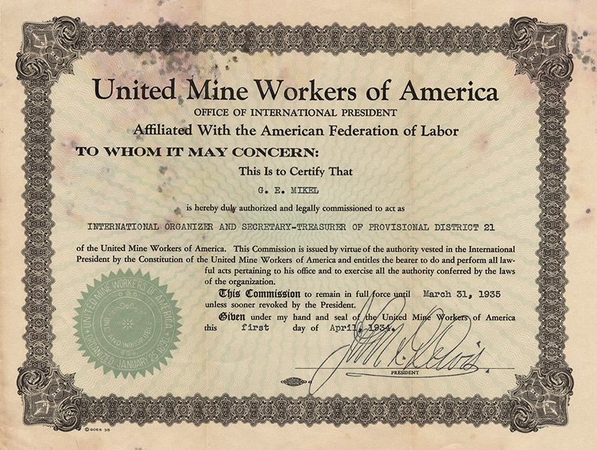 UMWA Document