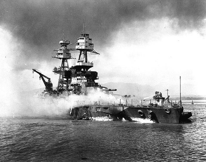 USS Hoga Fighting Fires
