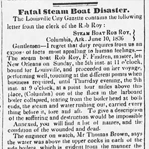 Rob Roy Disaster