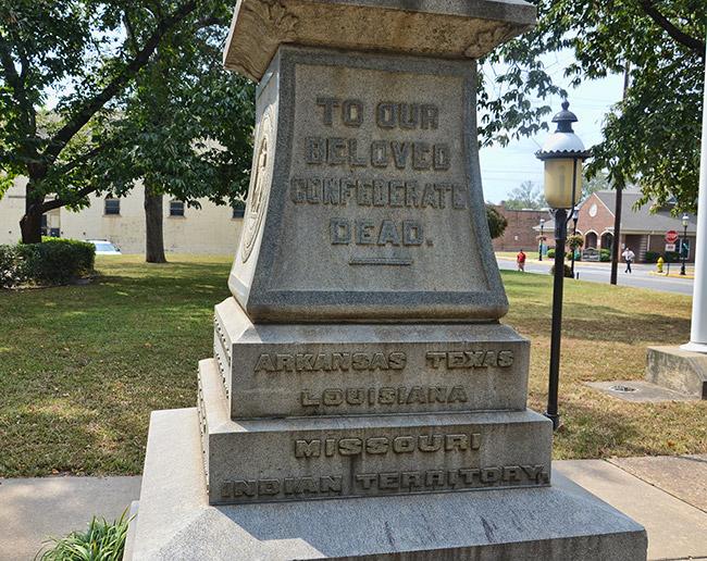 Van Buren Confederate Monument Detail
