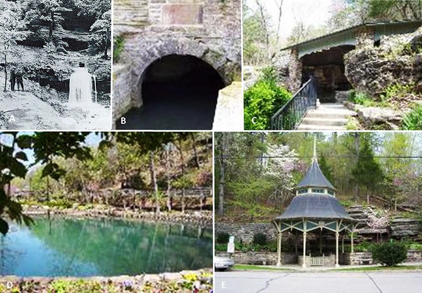 Various Springs in Eureka Springs