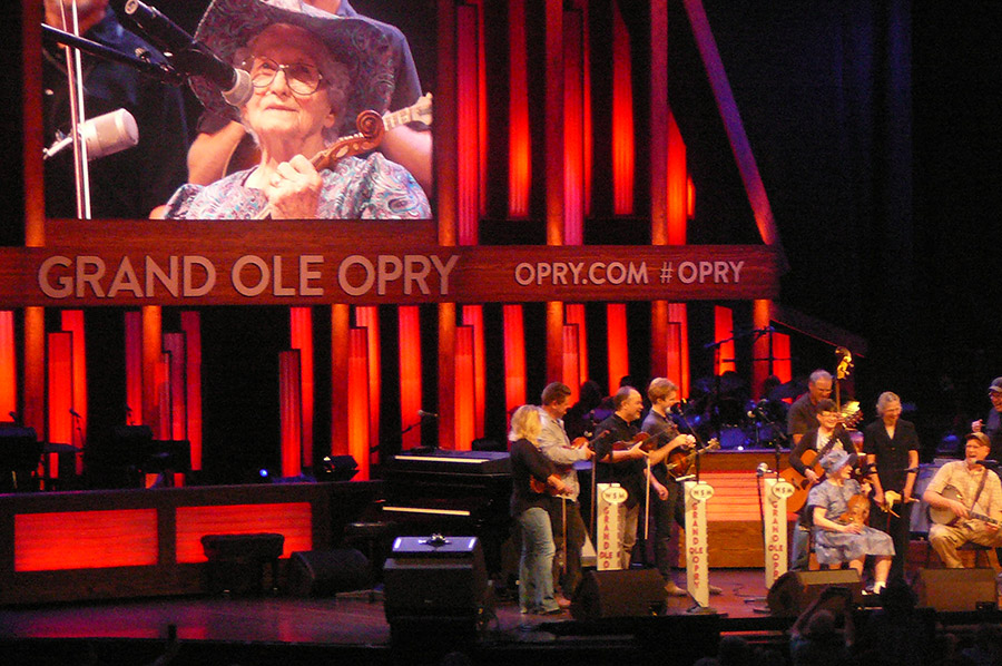 Violet Hensley at the Grand Ole Opry