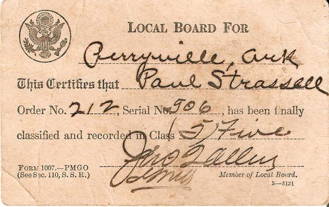 WWI Draft Card