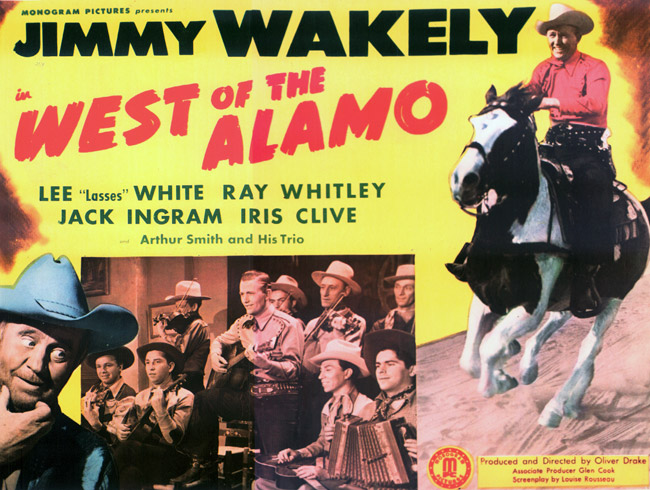 West of the Alamo Lobby Card starring Jimmy Wakely