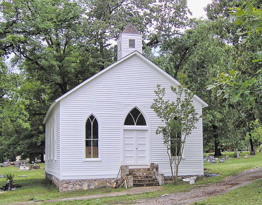 Williford Methodist Church after Restoration