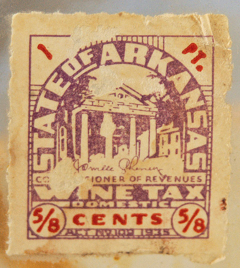 Arkansas Wine Tax Stamp