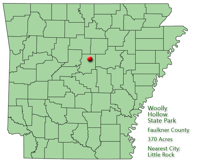 Woolly Hollow State Park: Park Location