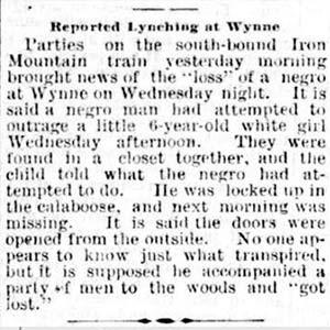 Wynne Lynching Article