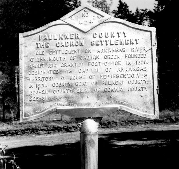 Cadron Settlement Marker