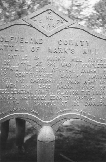 Action at Marks' Mills Marker
