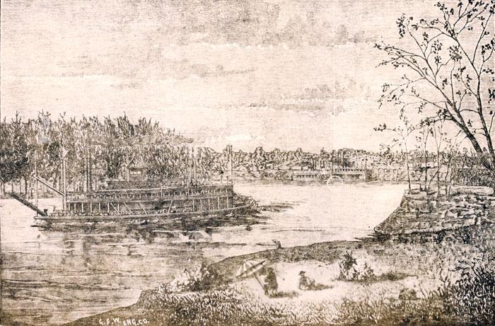 Steamboats Illustration