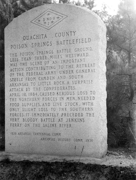 Engagement at Poison Spring Marker