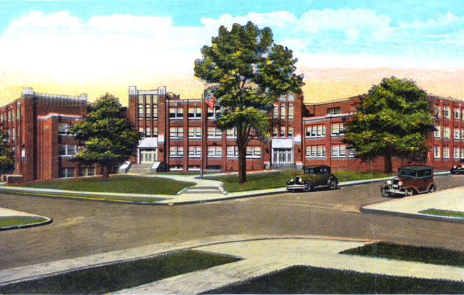 Dunbar High School Postcard