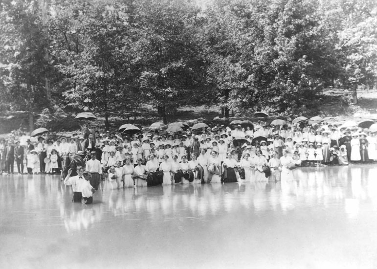 Baptism Service on Caddo River