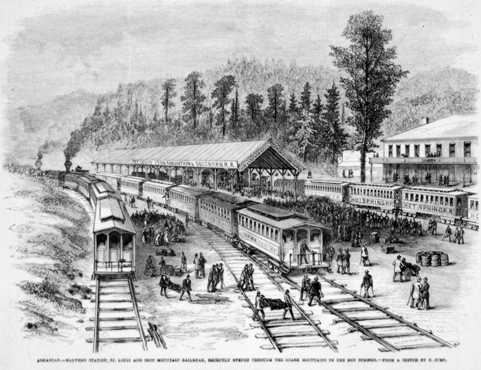 Malvern: Railroad Station Drawing