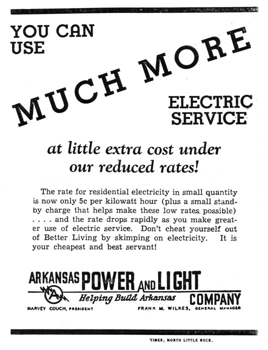 Arkansas Power & Light (AP&L) Ad
