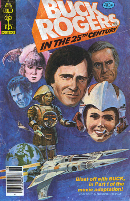 Buck Rogers Comic Book Featuring Gil Gerard