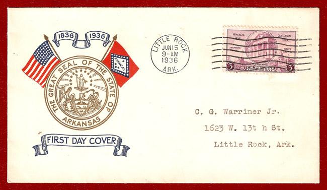 Centennial Celebration: First Day Cover Envelope