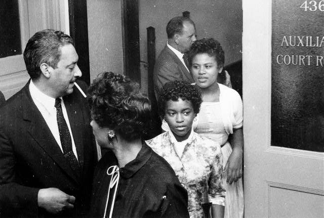 Central High Students Leaving Federal Court, 1957