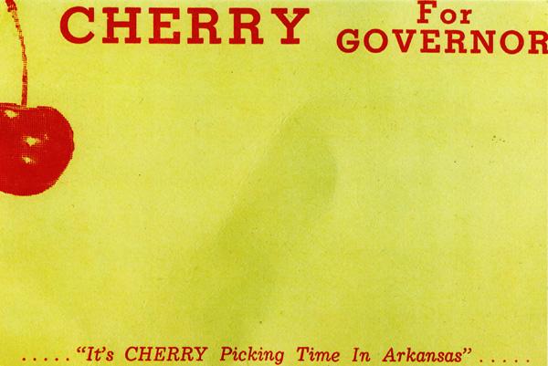 Francis Cherry Campaign Postcard