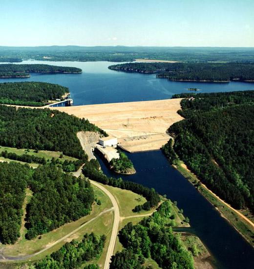 DeGray Dam and Lake