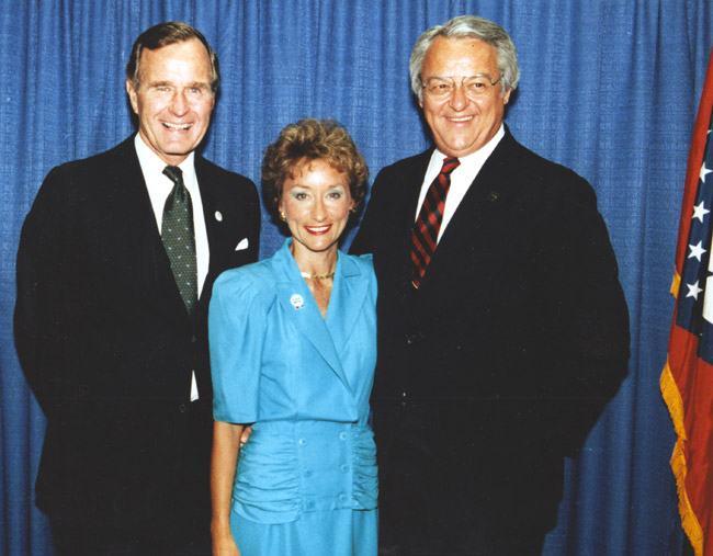 George Bush with Gay and Frank White