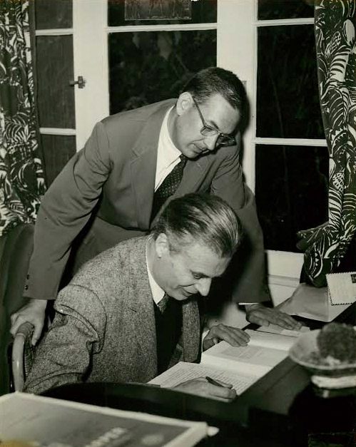 Bill Froug and Aldous Huxley