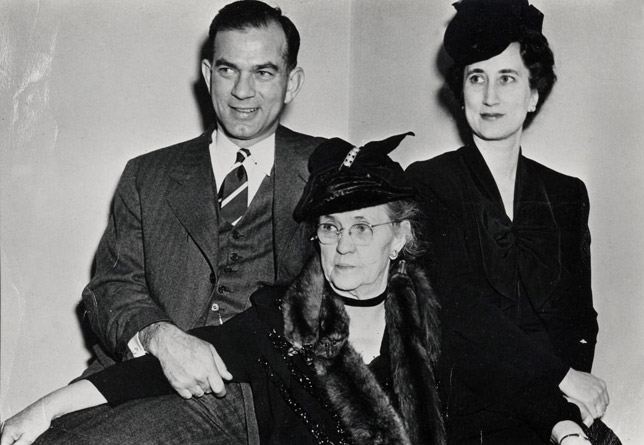 Bill, Roberta, and Elizabeth  Fulbright