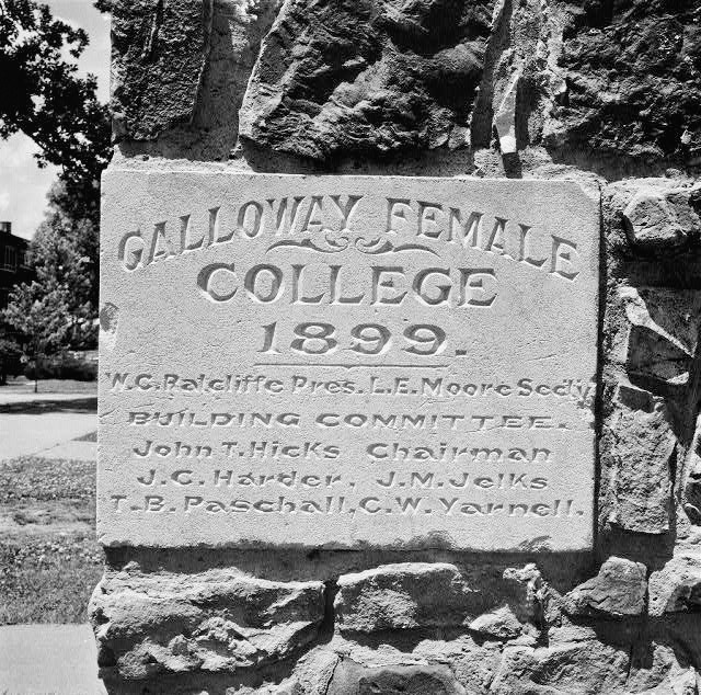 Galloway Female College Marker