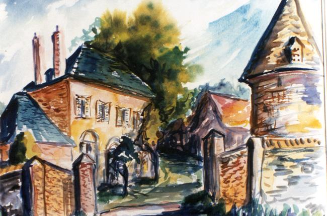 Untitled Watercolor by Gene Hatfield