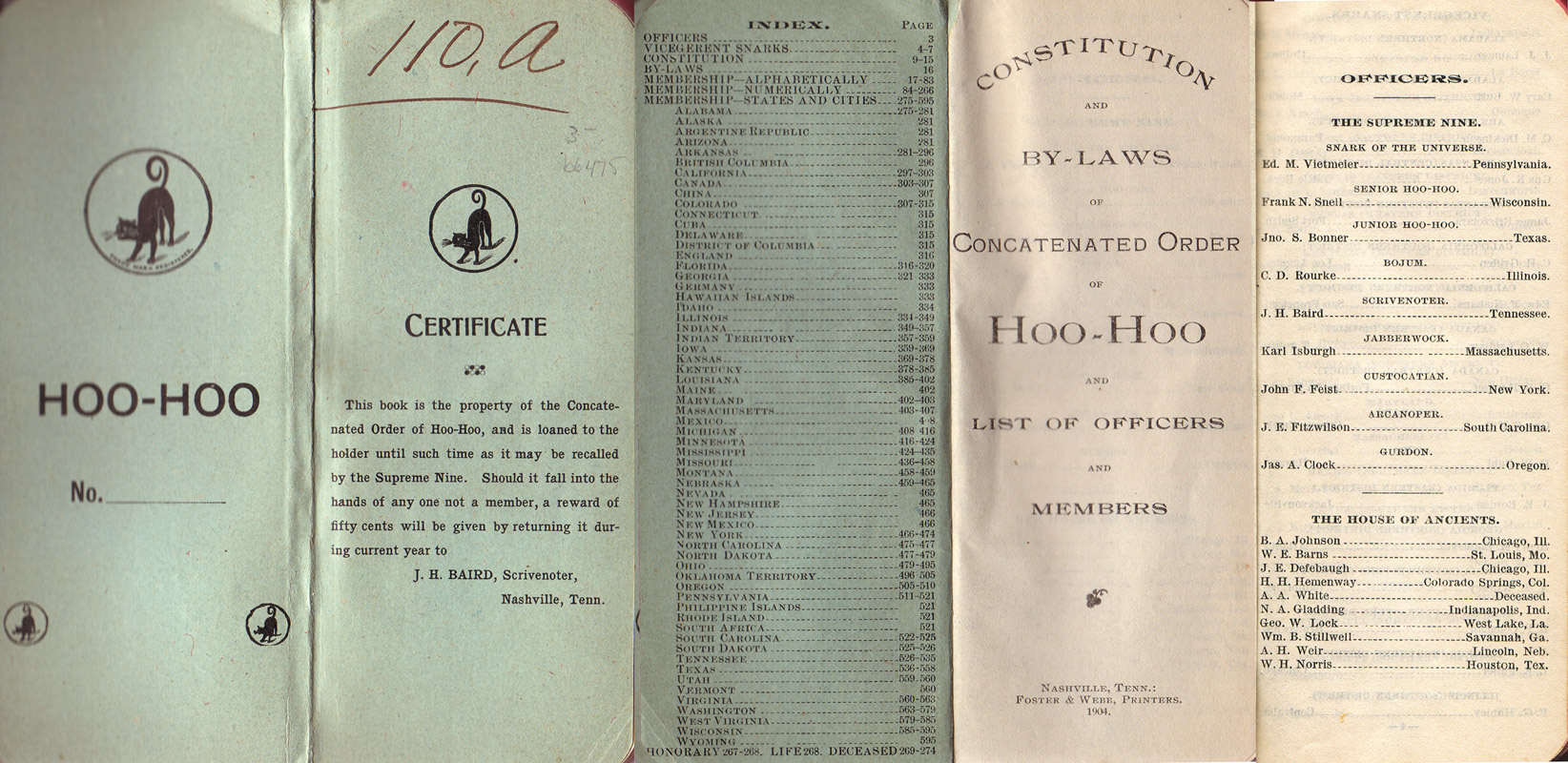 Concatenated Order of Hoo-Hoo Constitution
