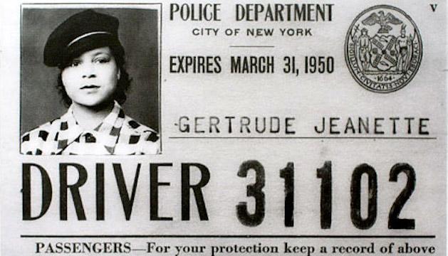 Gertrude Jeannette's Taxi Permit