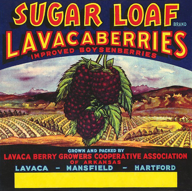 Lavacaberry Crate Label