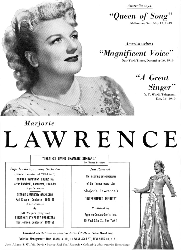 Marjorie Lawrence Ad