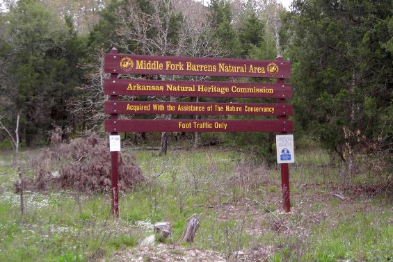 Middle Fork Barrens Natural Area