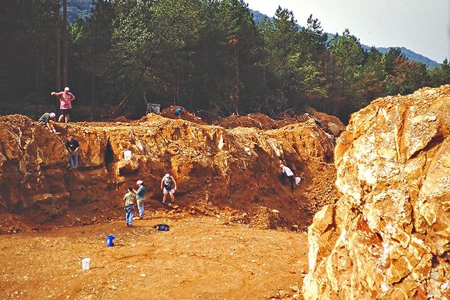 Quartz Crystal Mining