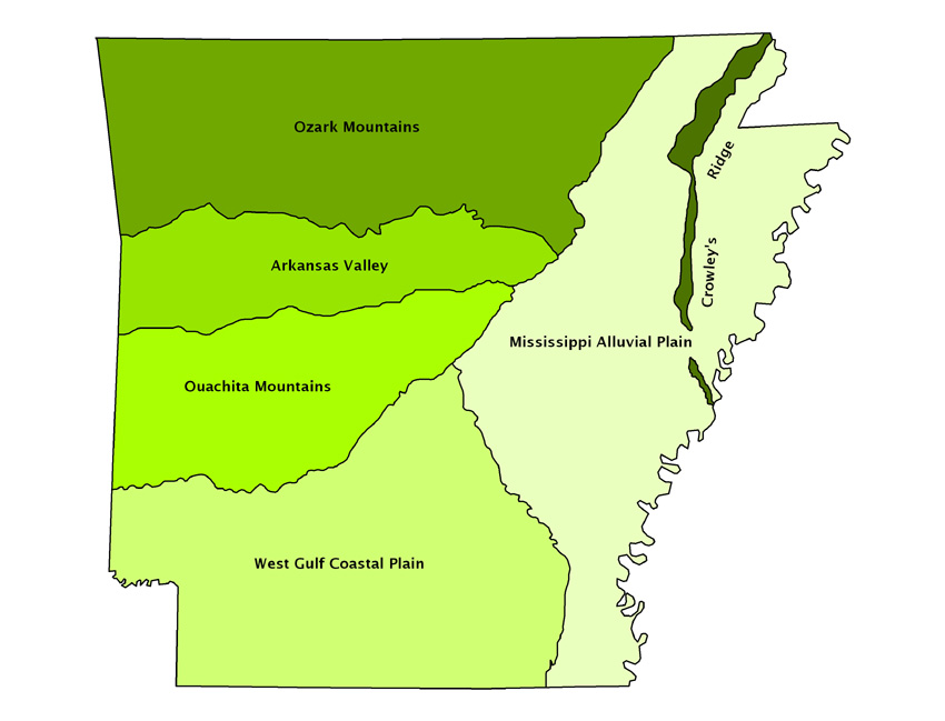 Natural Divisions Map