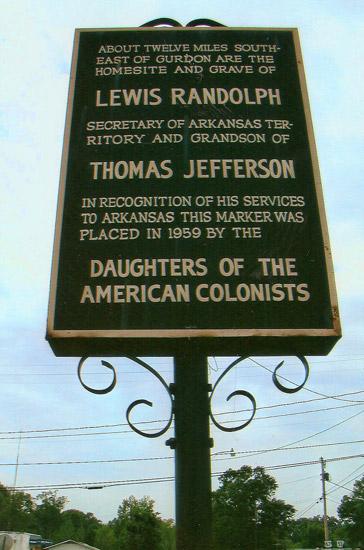 Meriwether Lewis Randolph Memorial Marker