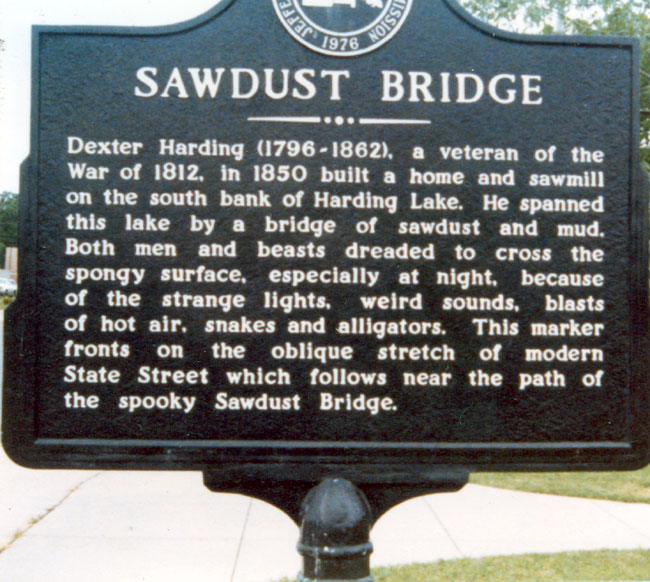 Sawdust Bridge Sign