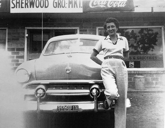 Jackie Hudson at Sherwood Grocery