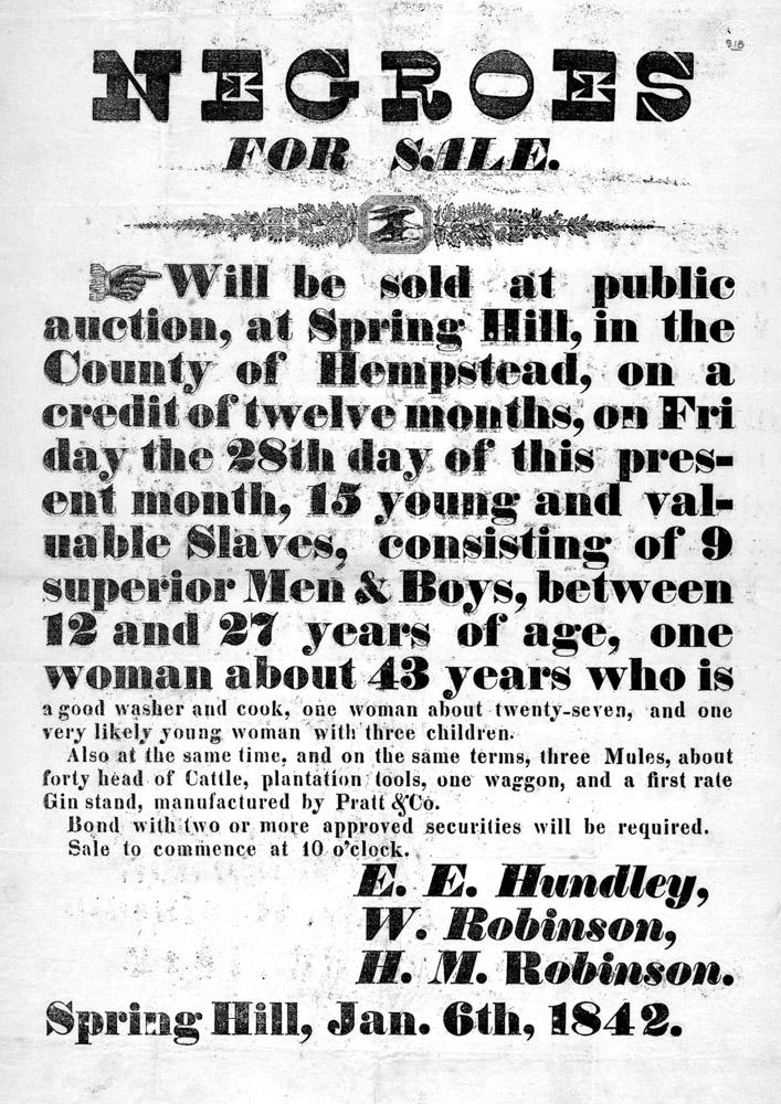 Slave Auction Notice