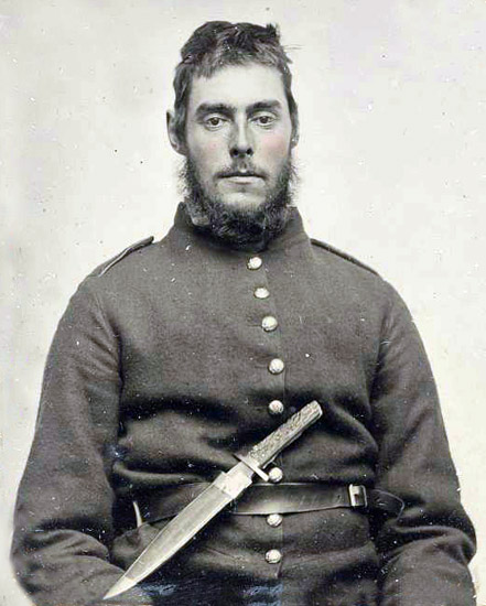 Soldier with Bowie Knife
