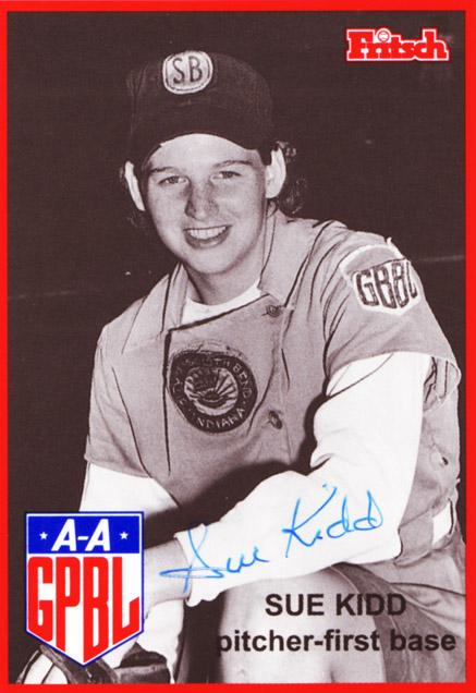 Sue Kidd Baseball Card